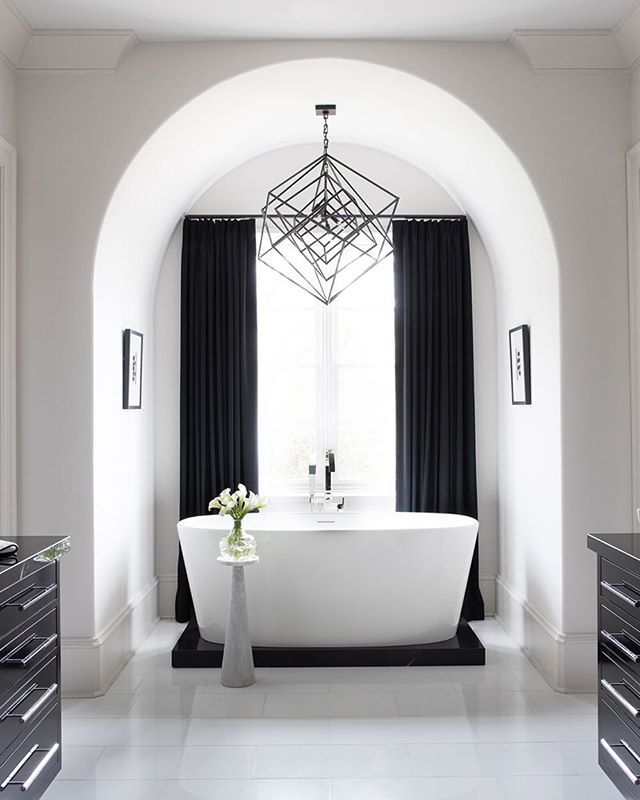 In Our October Issue Designer And Contractor Mike Hammersmith Deliver A Spa Like Bath Complete With Custom Vanities A Soaking Tub And Marble Flooring