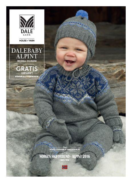 Alpintdrakt for baby nr. 316-04 http://dalegarn.no/wp-content/uploads/2015/10/HoY-DG31604-DALEBABYALPINT-ORG-v.1_web_versjon.pdf