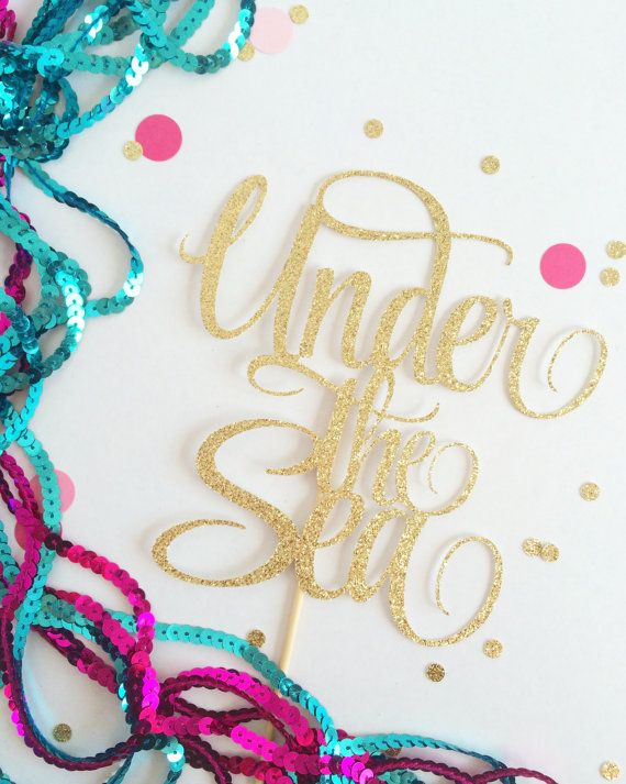 Under the Sea Cake Topper - Customize to any colour (Under the sea party, mermaid party, mermaid decor)