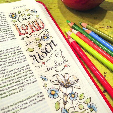 He is Risen http://karladornacher.typepad.com/karlas_korner/bible-journaling/
