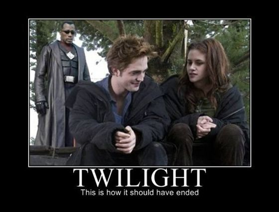 how twilight should've ended: Funny Funny, Funny Things, Random Funny, Funny Pics, Geek Stuff, Funny Shit, Funny Stuff, Finals Episode, Twilight Series