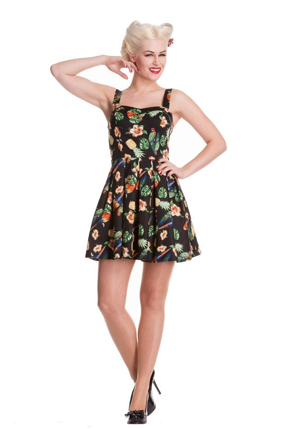 NEW Tiki Becky Mini Dress, Black by Hell Bunny. Pin Up VintageTop ...