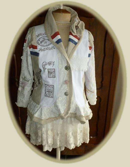 Arpantu Home Embroidery: PTT Post jasje met prachtige borduursels