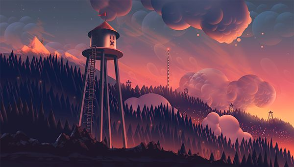 The gradients in this graphic novel are incredible - BrixCreative  (Clouds & gradients)