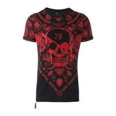 PHILIPP PLEIN 'Paris Ghetto' T-Shirt (4,735 SVC) ❤ liked on Polyvore featuring men's fashion, men's clothing, men's shirts, men's t-shirts, remeras hombre, shirts, black, men's round neck t shirts, mens t shirts and mens cotton t shirts