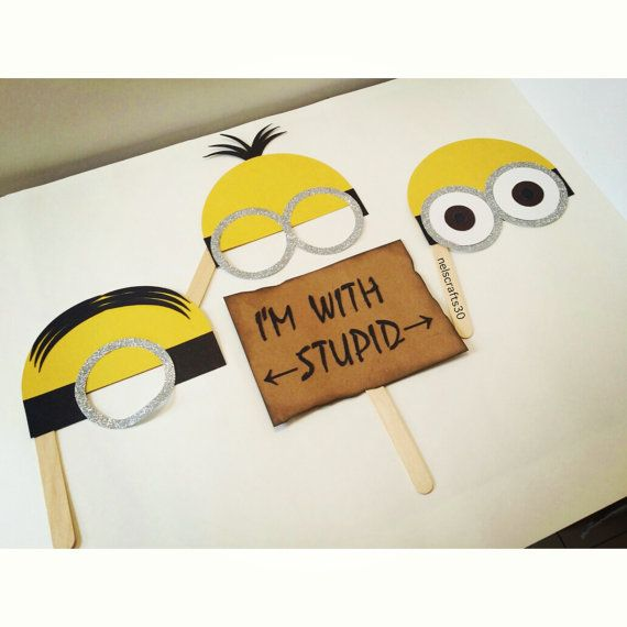 Hey, I found this really awesome Etsy listing at https://www.etsy.com/listing/243178649/minions-props-props-minions-photobooth
