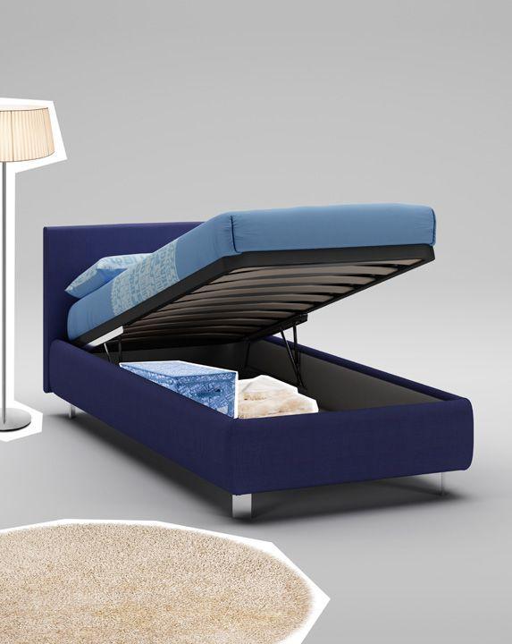 Односпальная кровать темно-синего цвета Moretti Compact WL056-874
