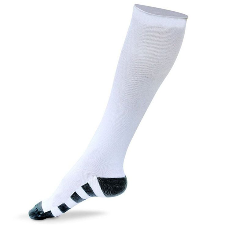 MIXSNOW Outdoor Sports Progressive Decompression Gradient Pressure Socks Football Sock adult Running Compression Stockings(1 Pairs White Large/X-Large). Lock the energy, tight feet, not shake, no skid, keep a good state. Use technologies to make wearing more comfortable not grinding feet. Suspension design greatly enhance the ground forces. Absorb sweat, breathe freely, soft and comfortable. Ergonomic design and fit- conforms to your leg.