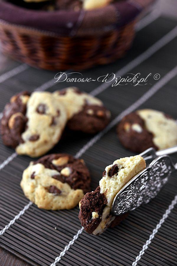 Dwukolorowe ciasteczka z czekoladą