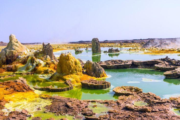 Wulkaniczna pustynia Danakilska w Etiopii