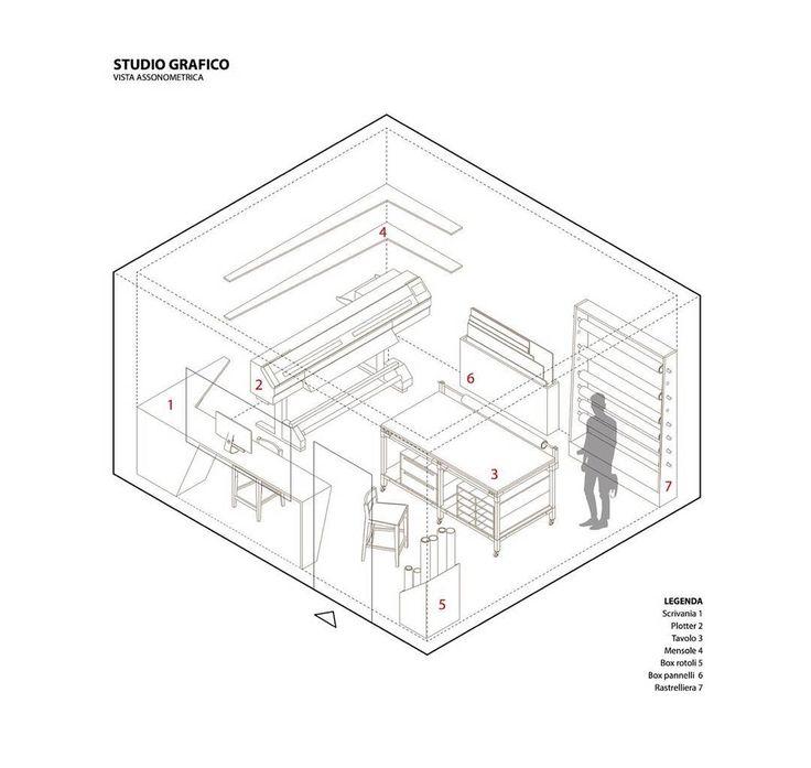 Studio grafico #forniture #interior #axonometric #laboratorio44  #architecture #graphicdesign #studio #wip #arredo #project  #concept #interiorproject