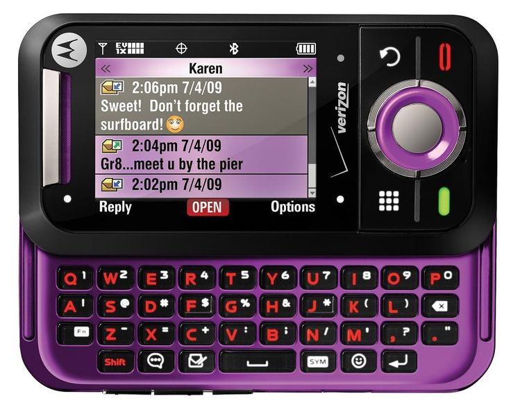 Purple Verizon phone