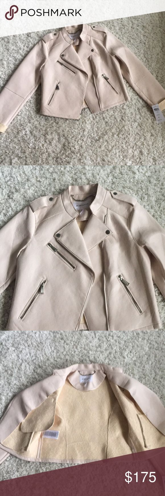 NWT BCBGeneration jacket NWT BCBGeneration jacket inside lace faux leather nude pink BCBGeneration Jackets & Coats