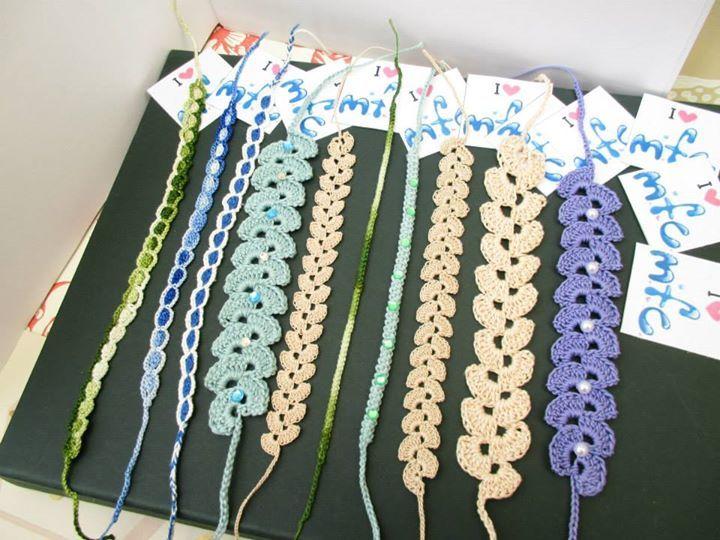 https://www.facebook.com/572877439453577/photos/a.756024187805567.1073741838.572877439453577/756025154472137/?type=3&permPage=1  - Braccialetti in cotone - uncinetto  - crochet
