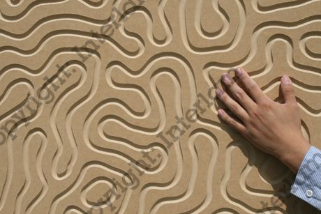 Elements Labyrinth architectural wall panels by Interlam