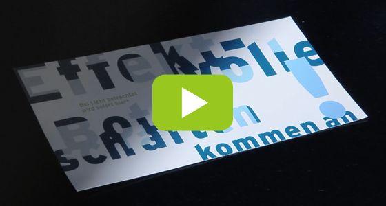 Bei Licht betrachtet wird sofort klar: Von KMC veredelte Botschaften kommen an! http://www.kmc.ch/de/newsletter/photochromdruck.html