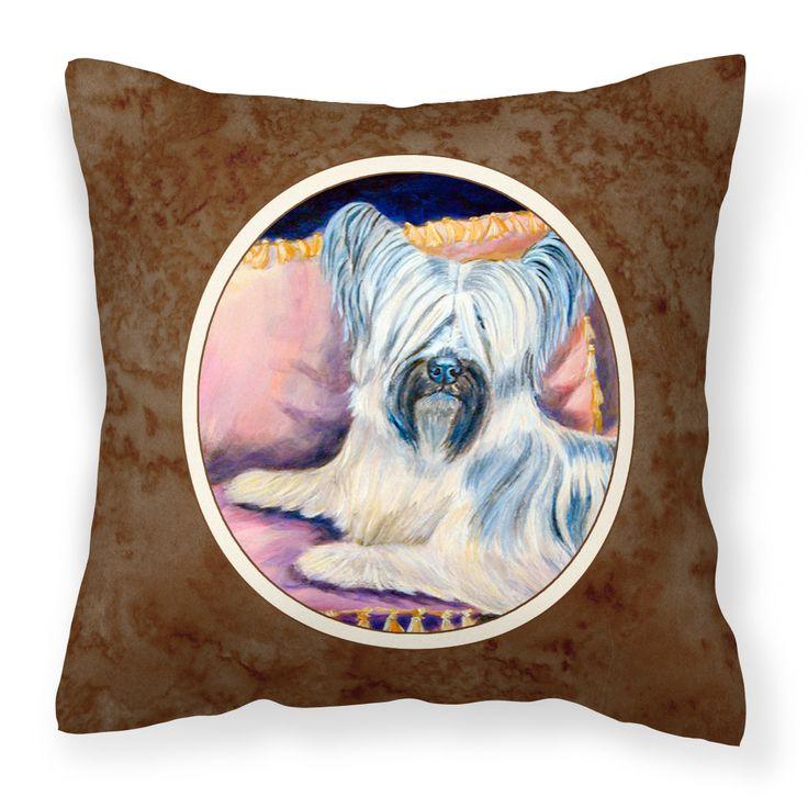 Skye Terrier Fabric Decorative Pillow 7154PW1414