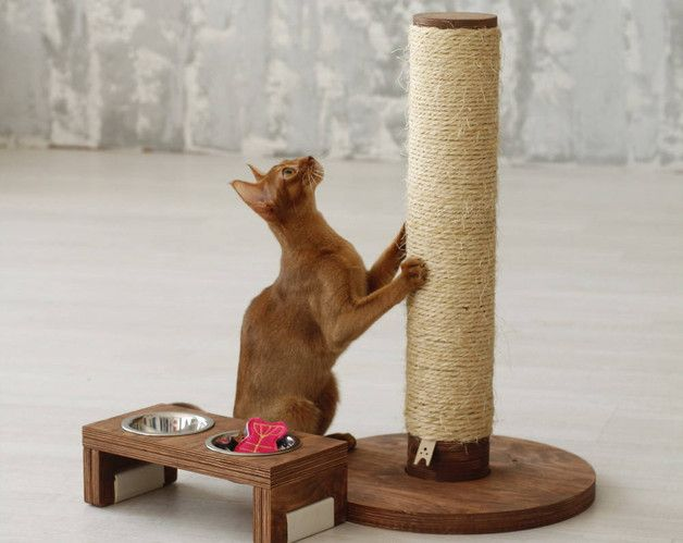 Cat Trees – Cat scratching post - Round Pole – a unique product by CatPlayFurniture on DaWanda