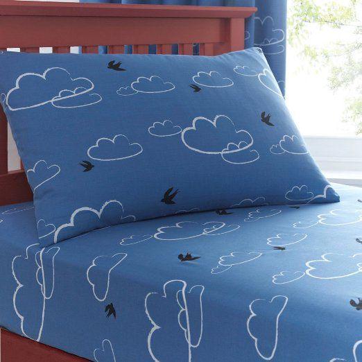 Just Kidding! Hilltop Blue Boys Kids Single Fitted Sheet Pillow Case Bedding Set: Amazon.co.uk: Kitchen & Home