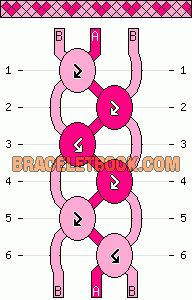 Normal Friendship Bracelet Pattern #10513 - BraceletBook.com