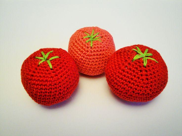 Amigurumi Vegetables : Crochet tomato vegetables amigurumi play food