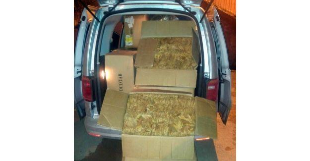 Sivas'ta 200 kilo kaçak tütük ele geçirildi