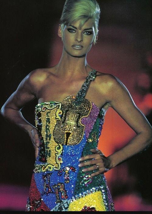 Linda Evangelista for Versace