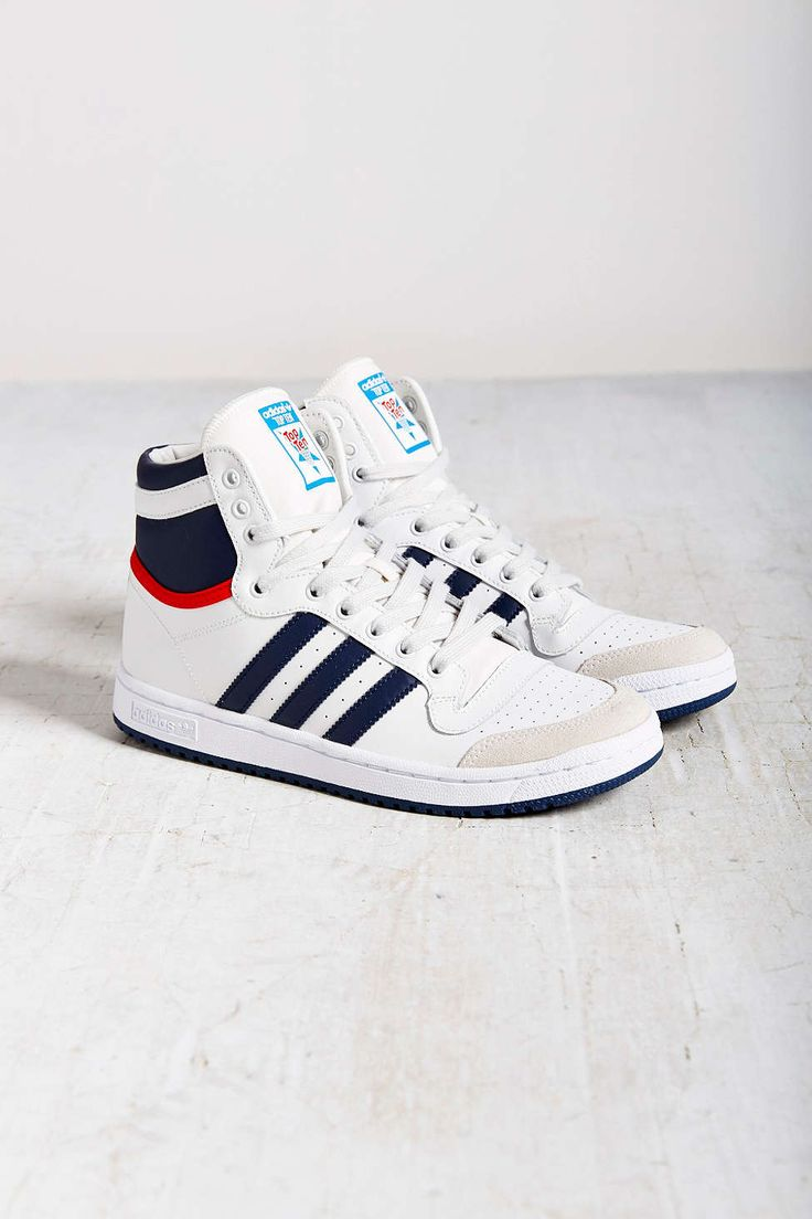 Top Ten Sparring Gloves In Red Used By World Champions: Adidas Originals Top Ten Hi Retro Sneaker