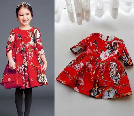 5PCS девушка с длинными рукавами Красное Марочное платье детские бальные платья для детей платье принцессы девушки туту платье Baby Girl Party/день рождения платье