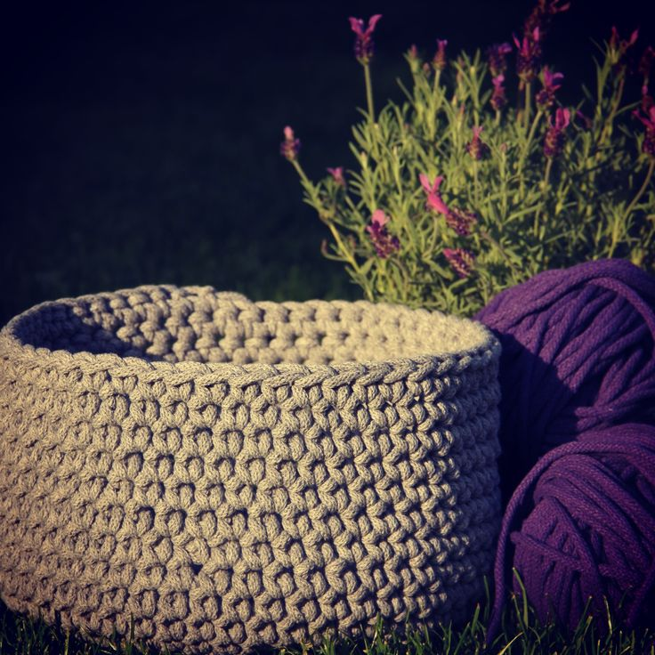 Grey cord basket. Great handmade, gorgeous gift.