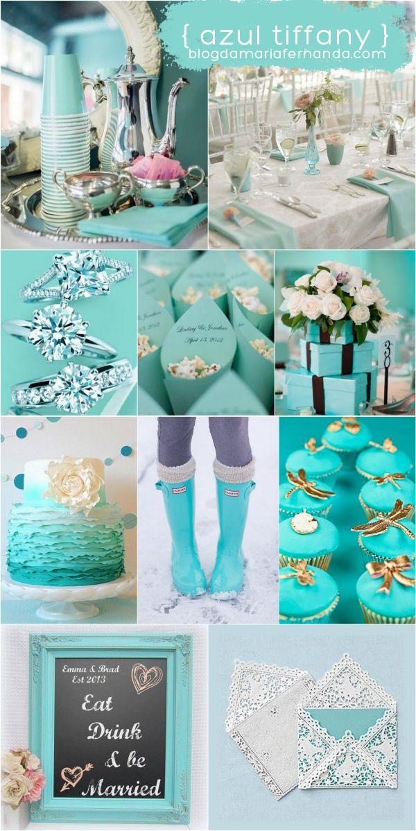 Decoração de Casamento : Paleta de Cores Azul Tiffany | http://blogdamariafernanda.com/decoracao-de-casamento-azul-tiffany