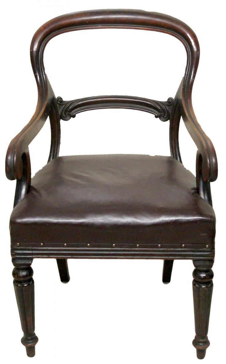Victorian Antique Mahogany Desk Chair with Leather Upholstered Stuffed Seat  in Antiques, Antique Furniture, Chairs - 68 Best Looking For Antiques Chairs Images On Pinterest Antique
