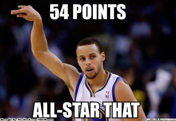 Sports+memes | Stephen Curry Gets 54 Points Meme | Sports Memes