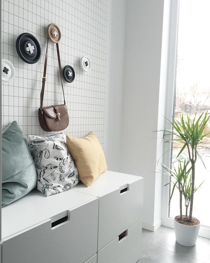 Ikea 'Nordli' drawers in entryway @cannorhome