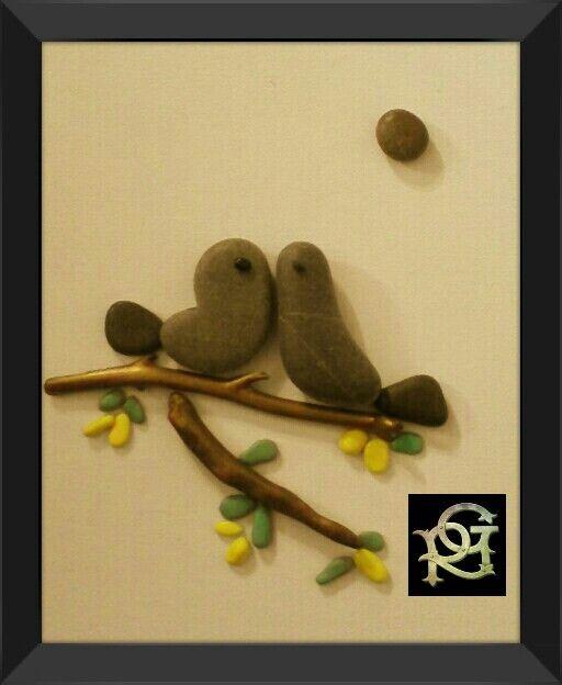Tenerezze-Painted Stones -di RosariaGagliardi