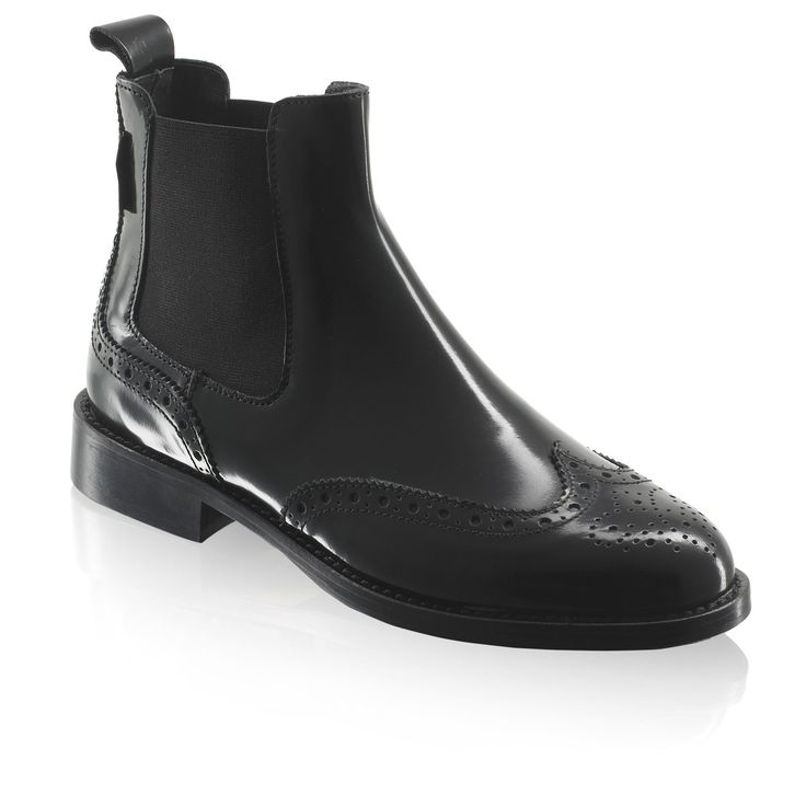 Russell Bromley black ankle boots - CADOGAN Brogue Chelsea £195