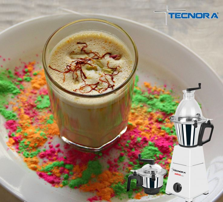 This #Holi, surprise your loved ones with a home-made Thandaai!  Ingredients 1 litre Milk 15 Almonds Half cup sugar 2 teaspoon Saunf 6 teaspoon pumpkin seeds Half teaspoon Elaichi powder Method Boil the milk and leave it aside to cool Soak almonds, with rest of the ingredients (except saffron & sugar) in half cup of water for 20 minutes Put all these ingredients into the stainless steel grinding jar of Tecnora AVATAR Mixer Grinder and churn Pour this mixture in milk and add sugar. Stir it