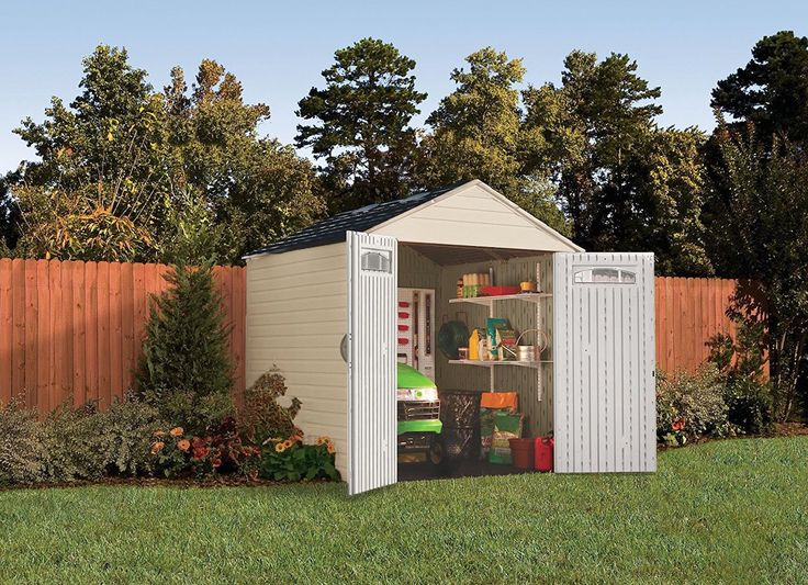 rubbermaid 7x7 feet x large outdoor storage shed - Garden Sheds 7x7