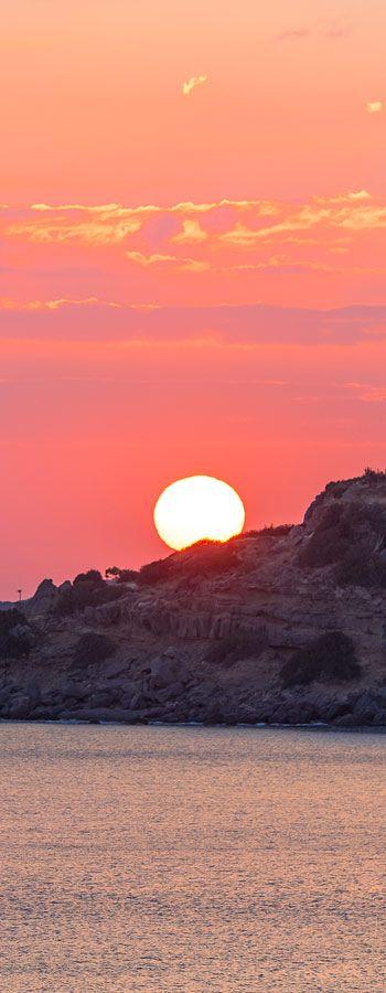 Red sun in Paleochora, Chania, Crete