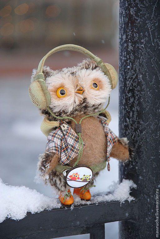 Teddy Owl / Купить Совенок Ди.Друзья мишек Тедди - коричневый, клетчатый, сова, совенок, сова игрушка