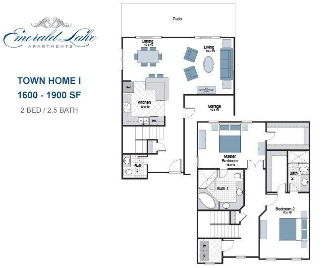 Emerald Lake Apartments floorplan 1