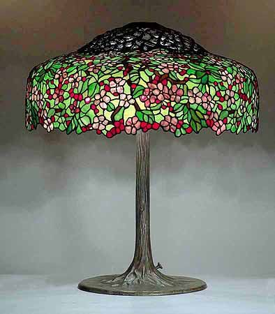Cherry Tree Lamp By Louis Comfort Tiffany