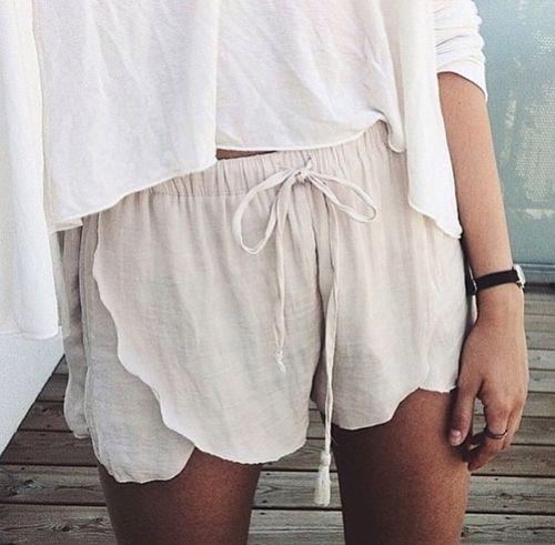 petal shorts.