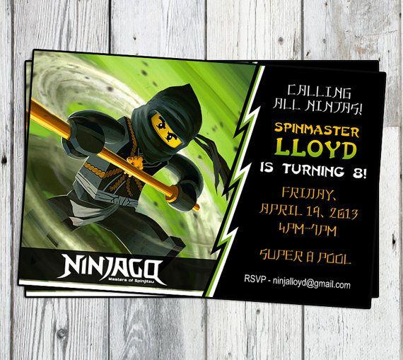 ninjago geburtstag party einladung: druckbare junge oder mädchen, Einladungsentwurf