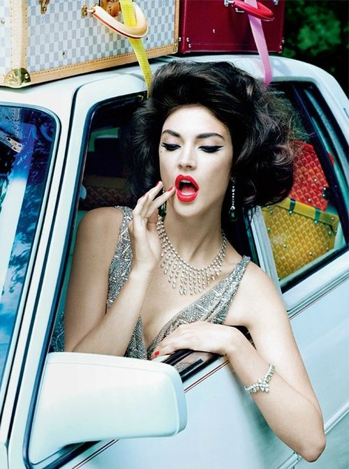 Big hair and red lips and liner - oh my!: Fashion, Italian Vogue, Style, Makeup, Miles Aldridge, Beauty, Hair, Photo, Jacquelyn Jablonski