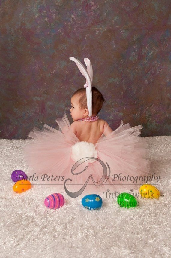 Such a sweet Easter photography idea - I have a pink skirt and I'll look at hobby lobby for a tail