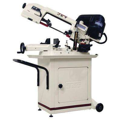 1/2 HP 5 in. x 6 in. Mitering Metalworking Horizontal Band Saw with Closed Stand, 3-Speed, 115/230-Volt, HBS-56S