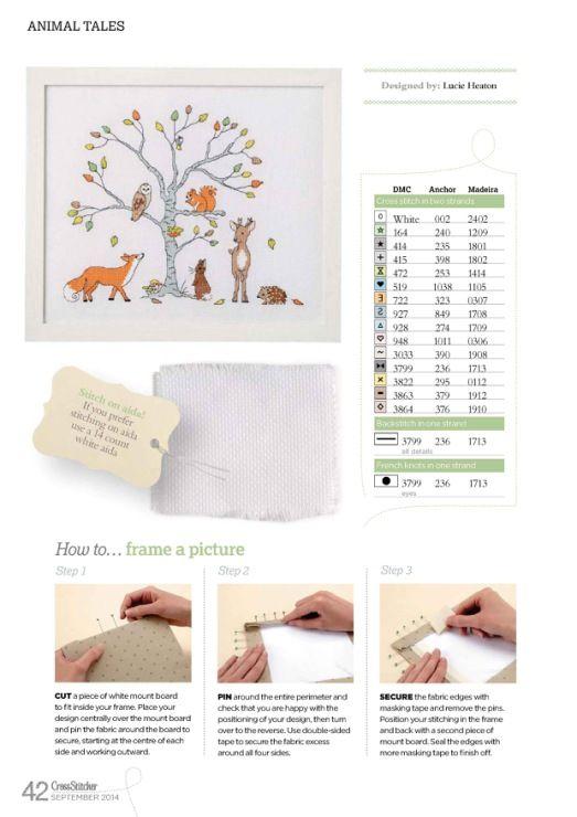 Free Animal Tales cross stitch pattern pg 3 #stitching #animals