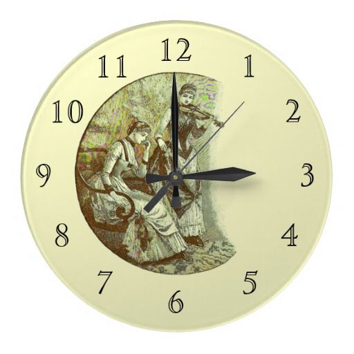 An Adagio Victoriana Wall Clock with Number Face
