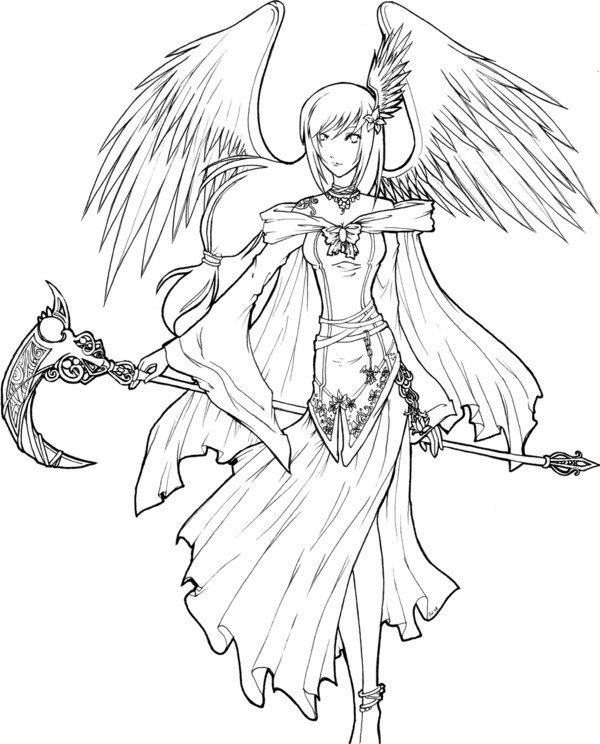 55 best angels images on pinterest   demons, coloring books and ... - Coloring Pages Beautiful Angels